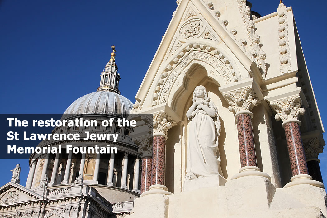 The St Lawrence Jewry Memorial Fountain in the City of London 01